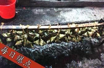 黑粽子生产点苍蝇乱飞