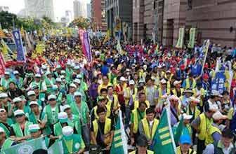 台湾抗议一团体没休假